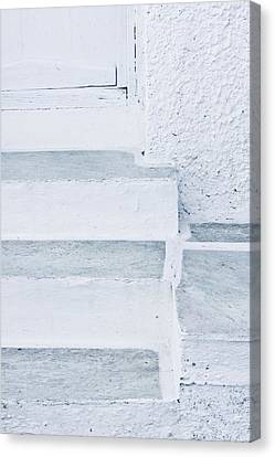 Medieval Entrance Canvas Print - White Stone Steps by Tom Gowanlock
