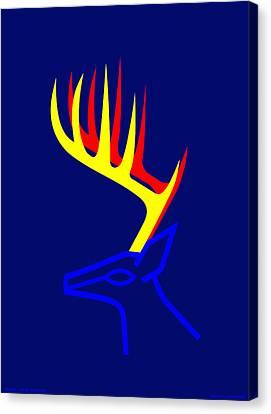 White Taled Deer Canvas Print by Asbjorn Lonvig