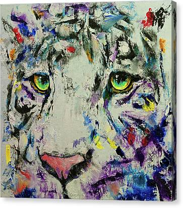 White Tiger Canvas Print by Michael Creese