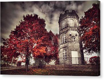 Finland Canvas Print - White Tower Of Autumn by Sandra Rugina