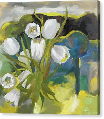 White Tulips 395 I Canvas Print