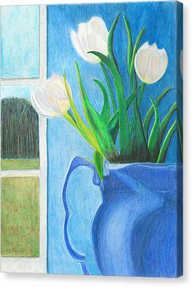 White Tulips Canvas Print by Arlene Crafton