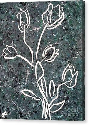 White Tulips Canvas Print by Jilian Cramb - AMothersFineArt