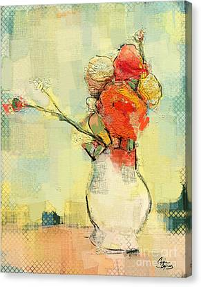 White Vase Canvas Print