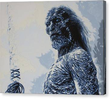 Canvas Print featuring the painting White Walker by Luis Ludzska
