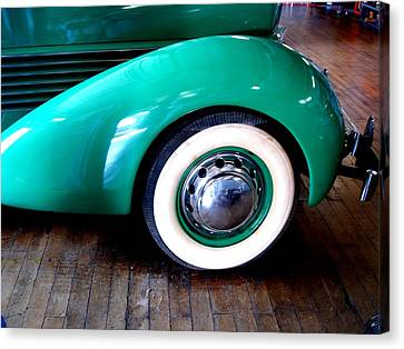 Canvas Print featuring the photograph White Walls 1936 Teal by Margie Avellino