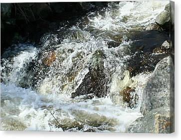 Canvas Print featuring the digital art White Water by Barbara S Nickerson