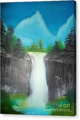 White Waterfall Canvas Print