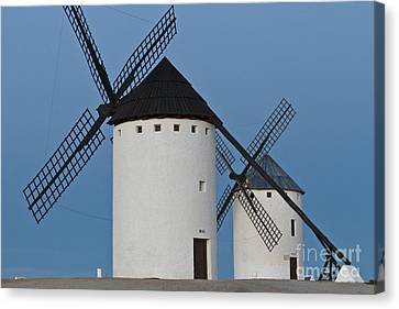 White Windmills Canvas Print