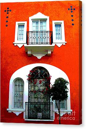 White Windows By Darian Day Canvas Print by Mexicolors Art Photography