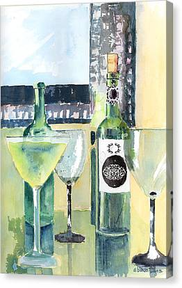 White Wine Canvas Print by Arline Wagner