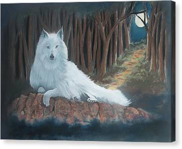 White Wolf Canvas Print by Charles Hubbard