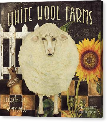 White Wool Farms Canvas Print by Mindy Sommers