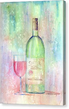 White Zinfandel Canvas Print by Arline Wagner