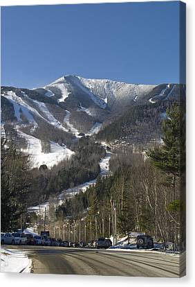 Whiteface Ski Mountain From The Road In Upstate New York Near Lake Placid Canvas Print by Brendan Reals