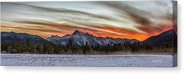 Whitehorse Sunset Panorama Canvas Print