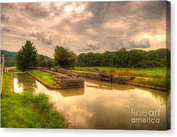 Whitewater Canal Lock 24 Canvas Print by Paul Lindner