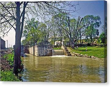 Canvas Print featuring the photograph Whitewater Canal Metamora Indiana by Gary Wonning