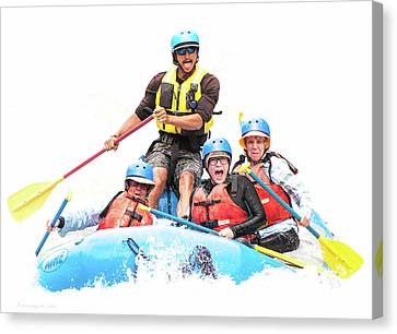 Canvas Print featuring the photograph Whitewater Faces by Britt Runyon
