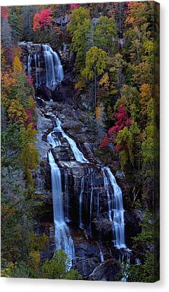 Whitewater Falls In Autumn Canvas Print by Jetson Nguyen