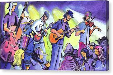 Canvas Print featuring the painting Whitewater Ramble At The Barkley Ballroom by David Sockrider