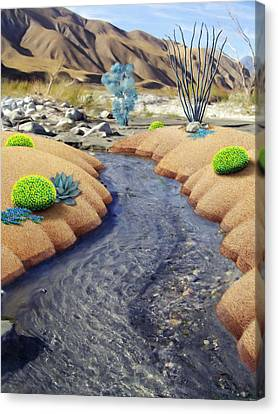 Whitewater Canvas Print by Snake Jagger
