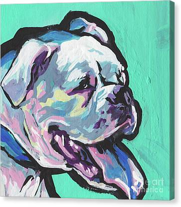 Whitey Boxer Boy Canvas Print by Lea