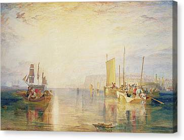 Whiting Fishing Off Margate Canvas Print by Joseph Mallord William Turner