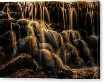 Hales Corners Canvas Print - Whitnall Park Gentle Falls by Dale Kauzlaric