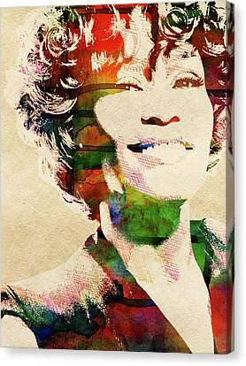 Whitney Houston Canvas Print by Mihaela Pater