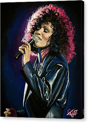 Whitney Houston Canvas Print