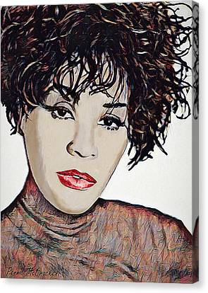 Canvas Print featuring the digital art Whitney by Pennie McCracken