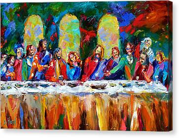 Last Supper Canvas Print - Who Among Us by Debra Hurd
