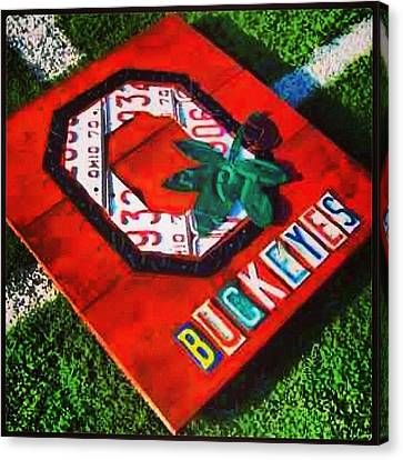 Who Are You Rooting For Tonight?  #osu Canvas Print by Design Turnpike