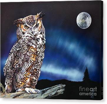 Who Doesn't Love The Night Canvas Print