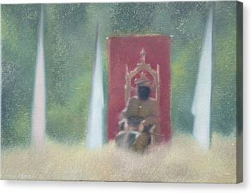Fantasy Realistic Still Life Canvas Print - Who Is The King Of Your Life by Weiyu Xia