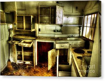 Who Left The Cupboard Doors Open Canvas Print by Michael Eingle