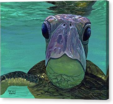Canvas Print featuring the painting Who Me? by Darice Machel McGuire