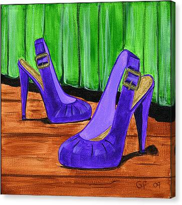 Who Wears These Shoes  Canvas Print by Gail Finn