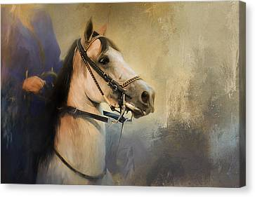 Whoa Slow Down Horse Art Canvas Print by Jai Johnson
