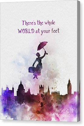 Whole World At Your Feet Canvas Print