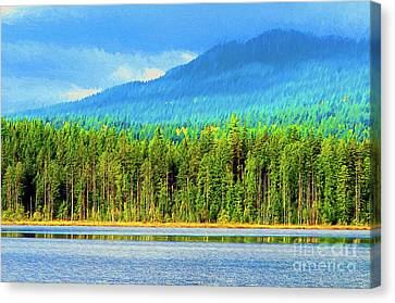 Canvas Print featuring the photograph Whonnock Lake Mountain Photo Art by Sharon Talson