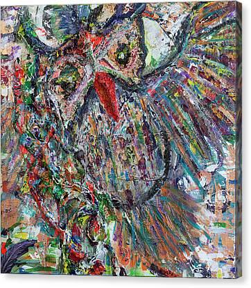 Prowler Canvas Print - Whoooooo Time by Natosha Keefer