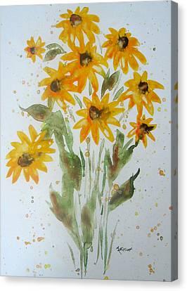 Whoopsie Daisy Canvas Print by Marsha Elliott