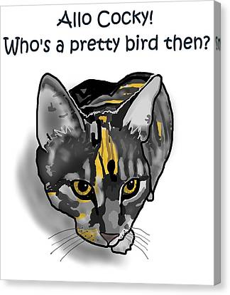 Canvas Print - Who's A Pretty Bird Then? by Joan Stratton