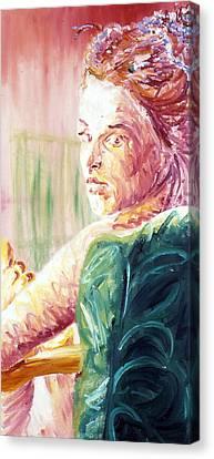 Whos That Girl Canvas Print by LB Zaftig