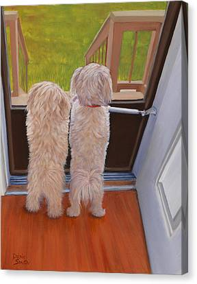Who's There Canvas Print by Danielle Smith