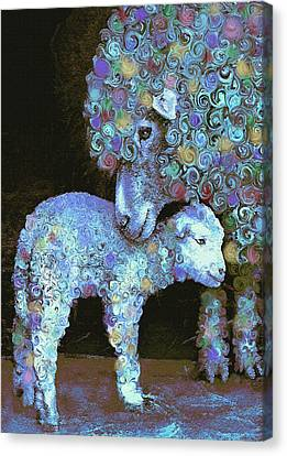 Whose Little Lamb Are You? Canvas Print by Jane Schnetlage