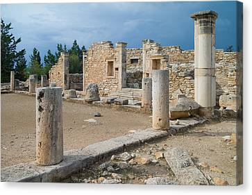 Why Did They Build Ruins Canvas Print by Harold Piskiel
