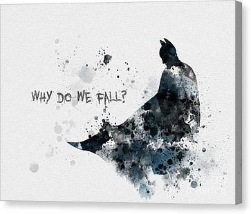 Comic Book Canvas Print - Why Do We Fall? by Rebecca Jenkins